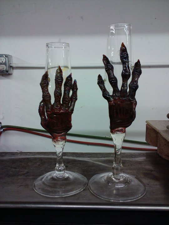 Zombie hand goblets (wedding request)
