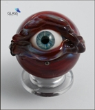 Red eyeball marble